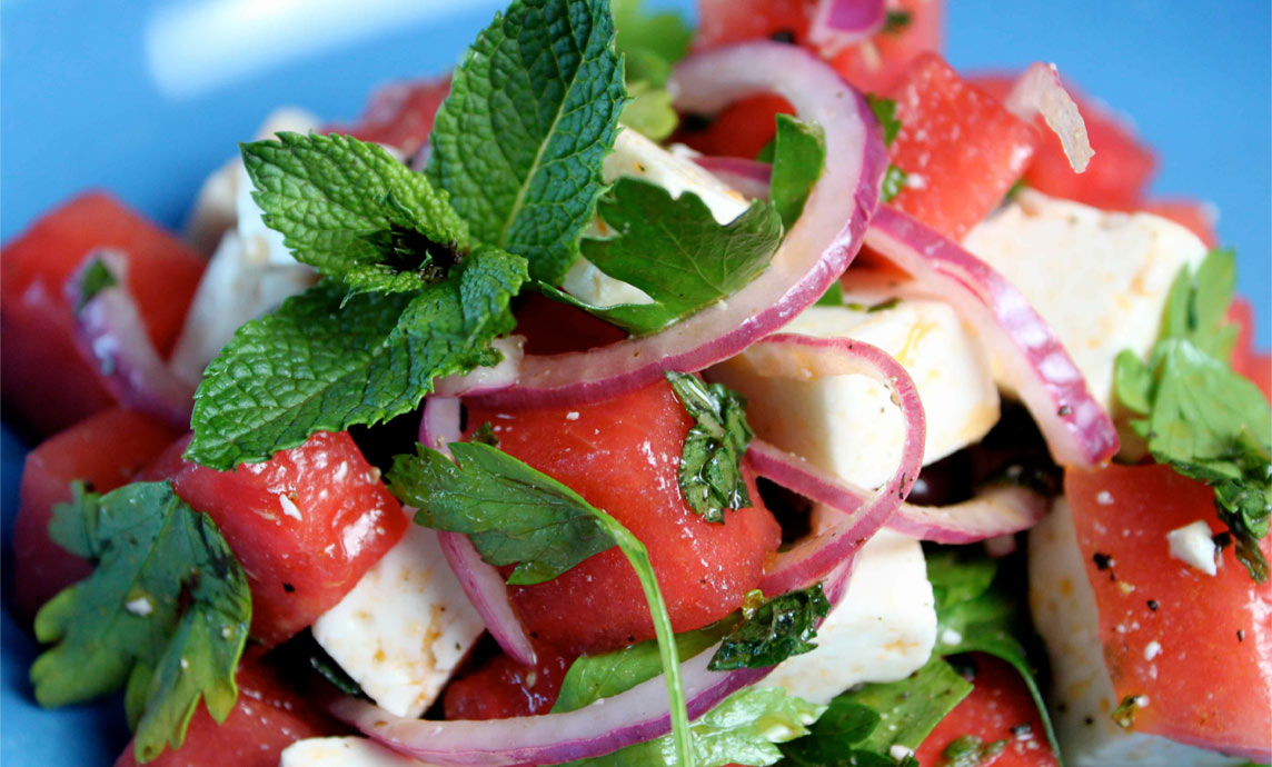 Watermelon and Greek Mountain Feta Salad